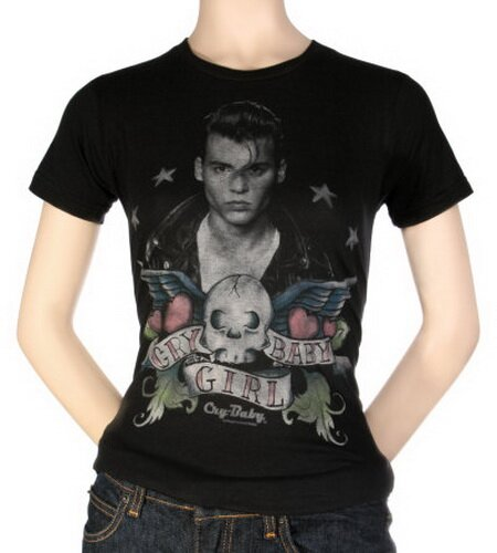 Cry Baby - Tattoo T-Shirt Celebrity. Tags: Cry+Baby+Tattoo+T-Shirt,