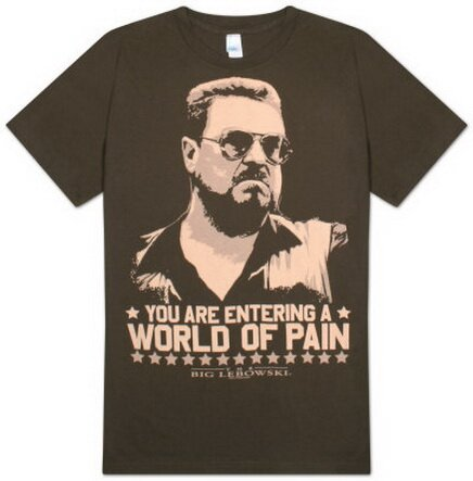 The Big Lebowski - World of Pain T-Shirt Movie