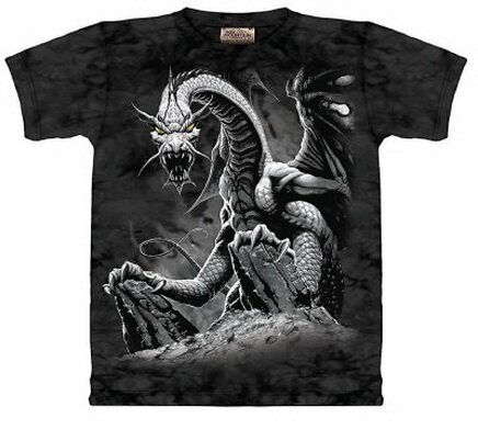 Black Dragon T-Shirt Fantasy