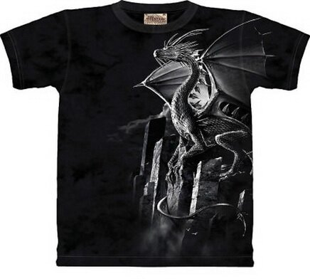 Silver Dragon T-Shirt Fantasy