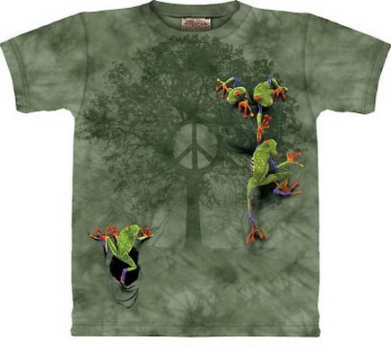 Peace Tree Frog T-Shirt Nature and Animals