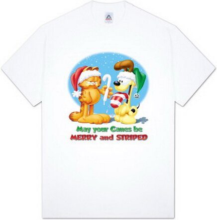 Garfield - Merry and Striped T-Shirts Christmas