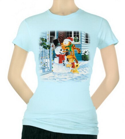 Garfield - Snow Fun Women's T-Shirt Christmas