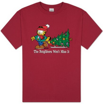 Garfield - Won't Miss It T-Shirts Christmas