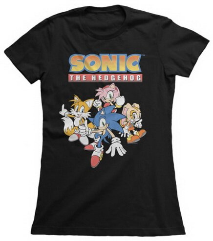 Sonic The Hedgehog And Friends Women's T-Shirt Video Game
