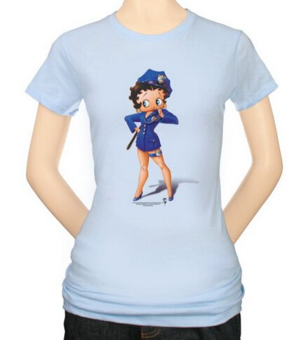 Betty Boop - Officer Boop Women's T-Shirts Movie