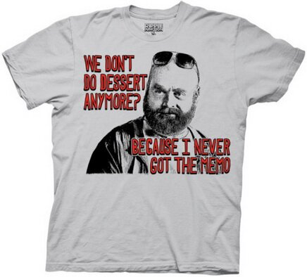 Hangover II - Dessert Memo T-Shirt Movie