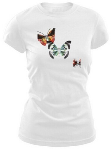 Butterflies Dance III Women's T-Shirt Nature and Animals