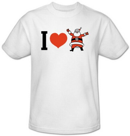 I Heart Santa T-Shirt Holiday