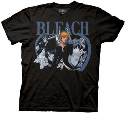 Bleach - Blue Duotone Group T-Shirt Anime