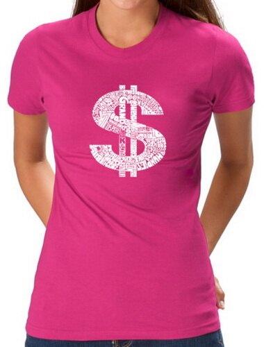 Dollar Sign Pink Women's T-Shirt Funny
