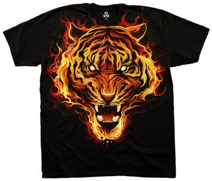 Fire Tiger T-Shirt Fantasy