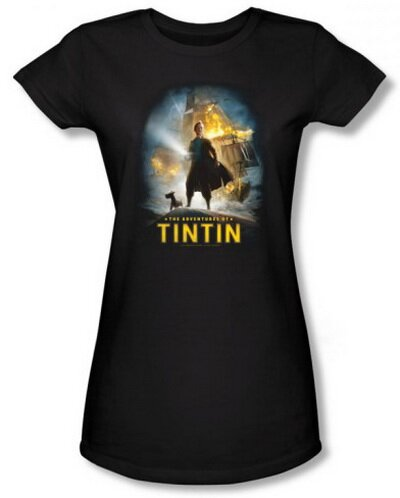 The Adventures Of TinTin Poster Women's T-Shirt Movie