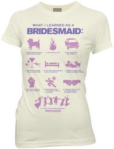 Bridesmaids - What I Learned As A Bridesmaid Women's T-Shirt Movie