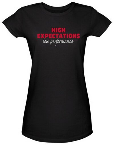 High Expectations Low Perfomance Women's Tee Shirts Funny