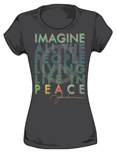 John Lennon Living In Peace Tee Shirt Celebrities