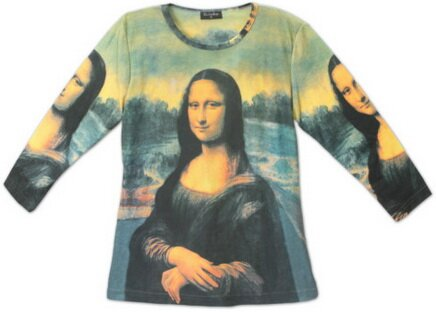 Mona Lisa Women's Tee Shirt Art