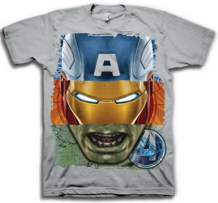 The Avengers Tri Face T-Shirt Comics