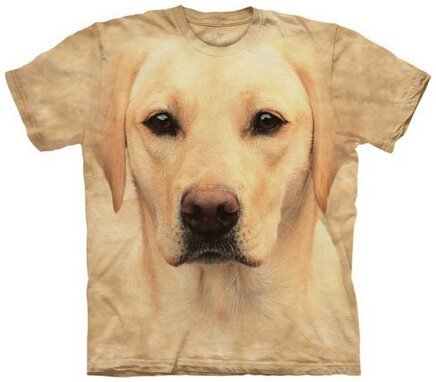 Yellow Lab Portrait T-Shirt Nature and Animals