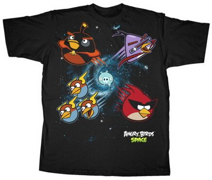 Angry Birds Space Solar System T-Shirts Video Game