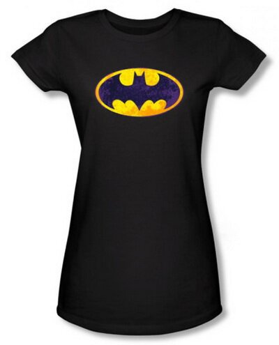 Batman - BM Neon Distress Logo Women's Tee Shirts Comics