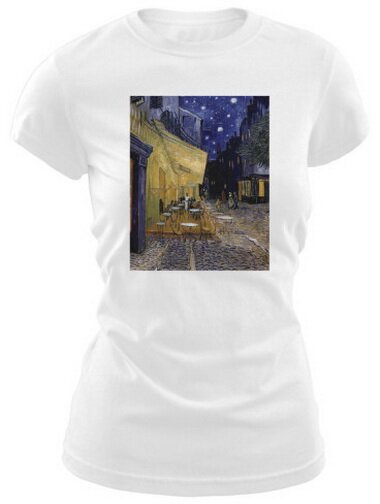 Cafe Terrace At Night Women's T-Shirts Art