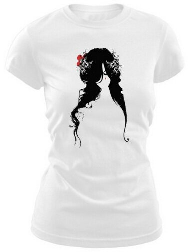 Illustration Of Woman With Tear On Face Women's TShirt Art