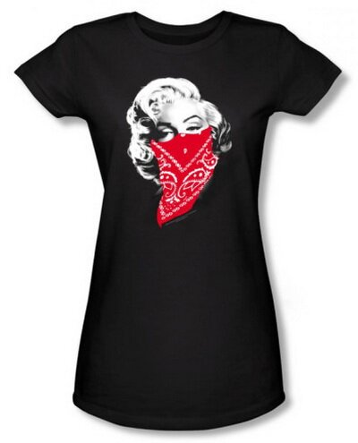 Marilyn Monroe Red Bandana Women's T-Shirt Celebrities