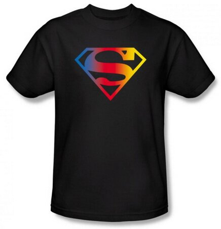 Superman Gradient Logo T-Shirt Comics