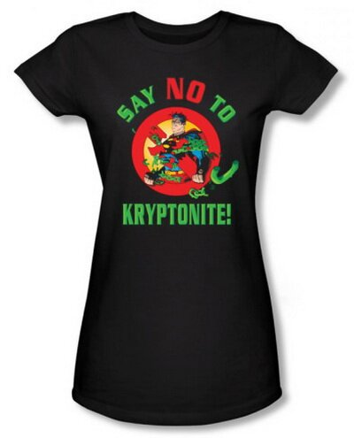 Superman Say No To Kryptonite Women's T-Shirt Comics