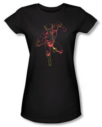 The Flash Neon Flash Women's T-Shirt Comics