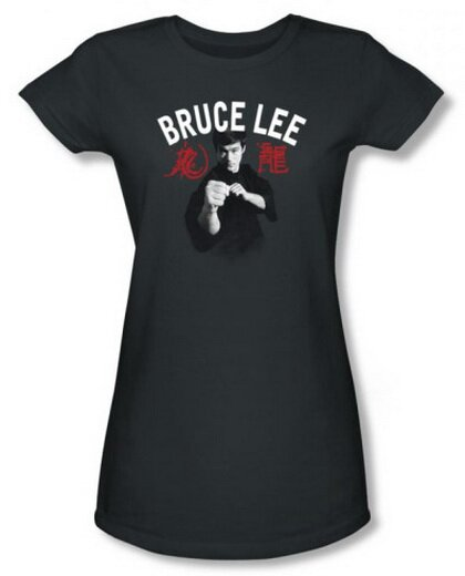 Bruce Lee Ready to Fight Women's tees celebrities