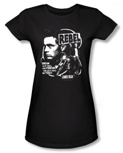 James Dean Rebel Cover women's tshirt celebrity