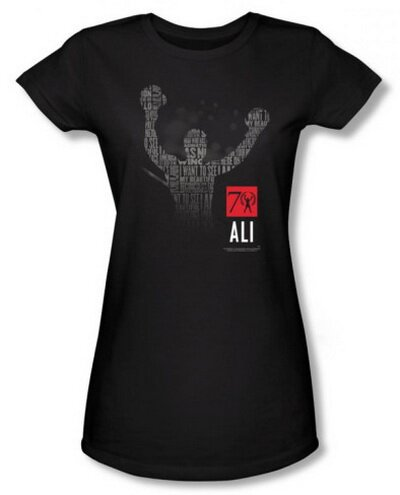 Muhammad Ali 70 Arms Raised women's tees celebrities