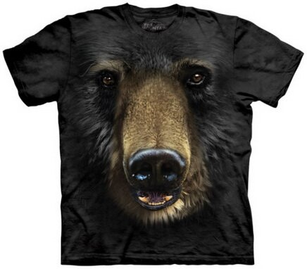 Black Bear Face t-shirt nature and animals