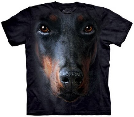 Doberman Face tshirt nature and animals