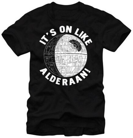 Star Wars It's On Like Alderaaan tshirt movie