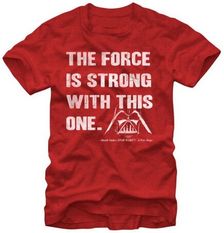Star Wars The Force Is Strong With This One slim fit t-shirt movie