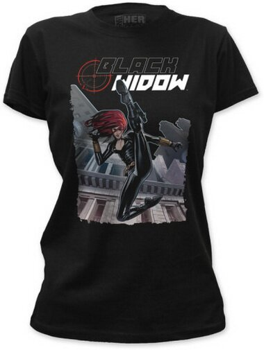 Black Widow Kick women's t-shirt comics