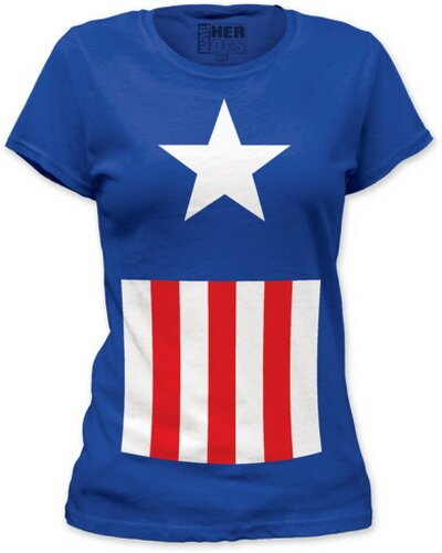 Captain America Suit women's tee shirt comics