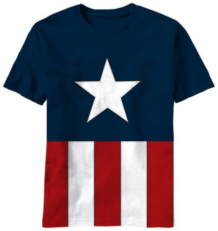 Captain America Tee Caps t-shirt comics