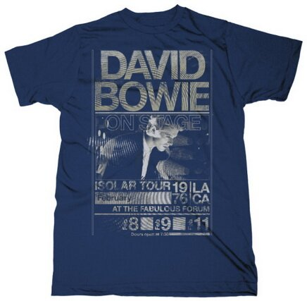 David Bowie Isolar Tour 1976 Slim Fit t-shirts celebrity