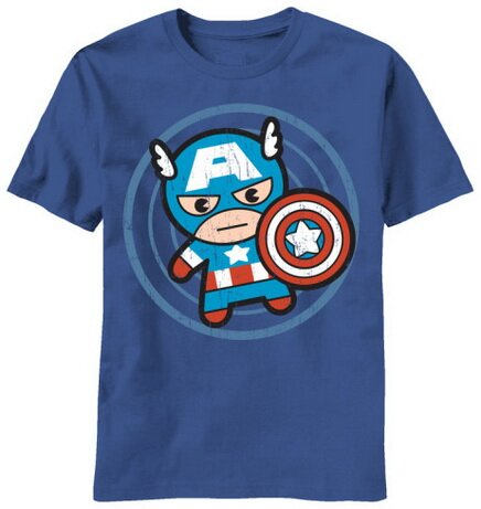 Marvel Kawaii Cap In Circle slim fit t-shirt comics