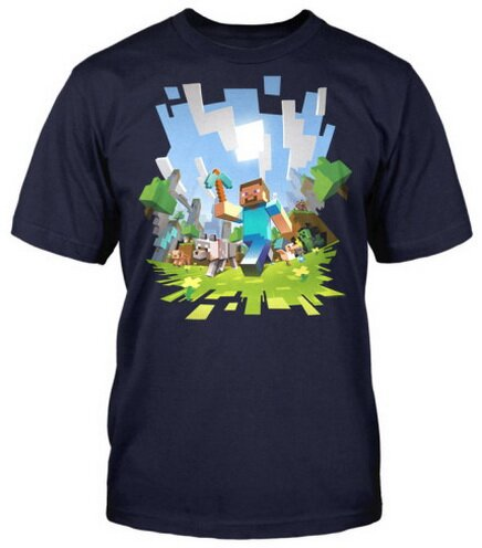 Minecraft Adventure t-shirt video game