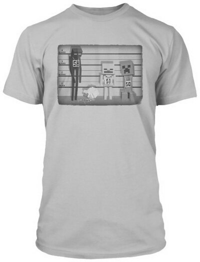 Minecraft Line Up t-shirts video game