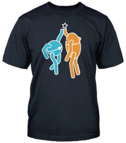 Portal 2 Hi Five t-shirts video game
