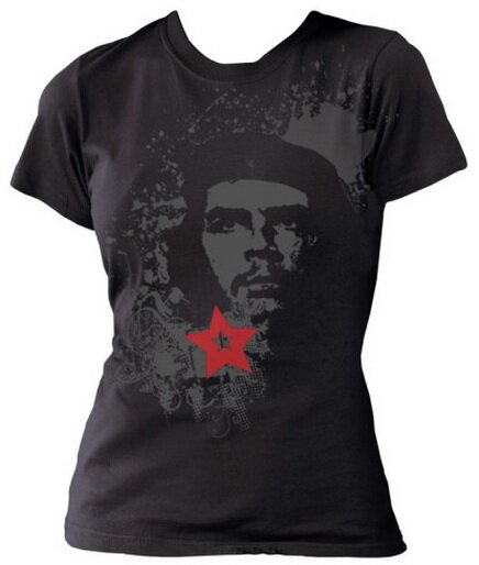 Che Guevara Heroic Che Distress women's t-shirts celebrity