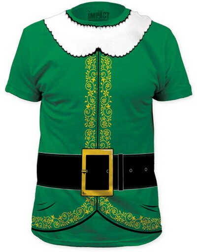 Elf Costume Tee slim fit t-shirt holiday