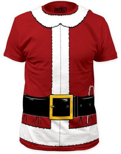 Santa Claus Costume Tee slim fit t-shirt holiday