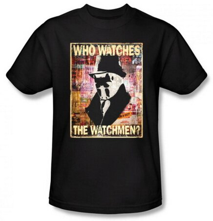 Watchmen Who Watches t-shirt comics